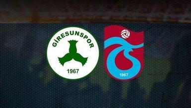 Giresunspor Trabzonspor maçı saat kaçta hangi kanalda CANLI yayınlanacak?