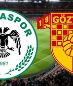 Konyaspor ile Göztepe yenişemedi!
