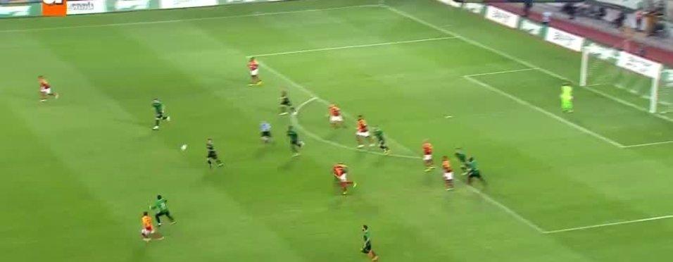 Elvis Manu getirdi Seleznyov bitirdi! Ahisarspor Galatasaray karşısında 1-0 önde...