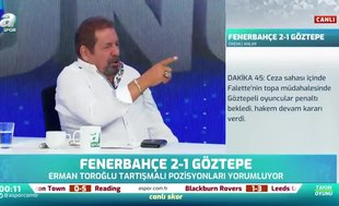 """Erman Toroğlu net konuştu! """"Pozisyon penaltı"""""""