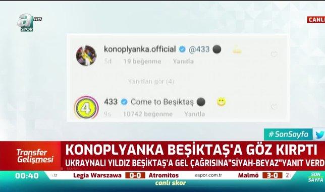 Konoplyanka'dan 'Come to Beşiktaş' yanıtı