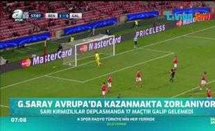 Galatasaray Avrupa'da kazanmakta zorlanıyor