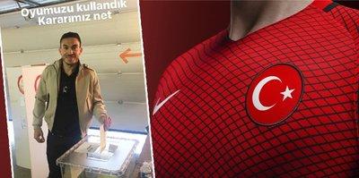 Milli futbolcudan referandum mesajı
