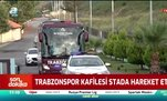 Trabzonspor kafilesi stada hareket etti