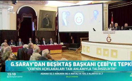 Galatasaray'dan Ahmet Nur Çebi tepkisi!
