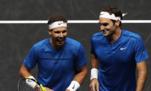 Nadal ve Federer'in canlı yayınında eğlenceli anlar!