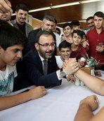 Bakan Mehmet Kasapoğlu'nun 'Maça Götürme' sözü gençleri sevindirdi