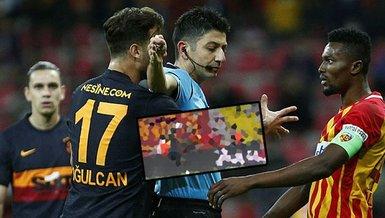 SON DAKİKA GALATASARAY haberi: Kayserispor Galatasaray maçında VAR sonrası penaltı kararı! İşte o pozisyon