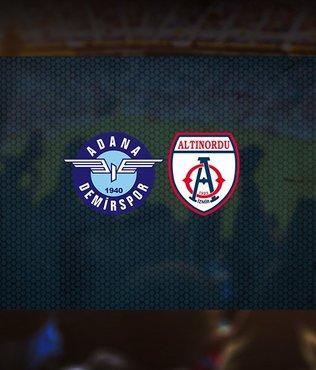 Adana Demirspor Altınordu maçı ne zaman, saat kaçta ve hangi kanalda canlı yayınlanacak?