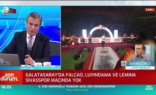 Galatasaray'da Falcao, Luyindama ve Lemina Sivasspor maçında yok