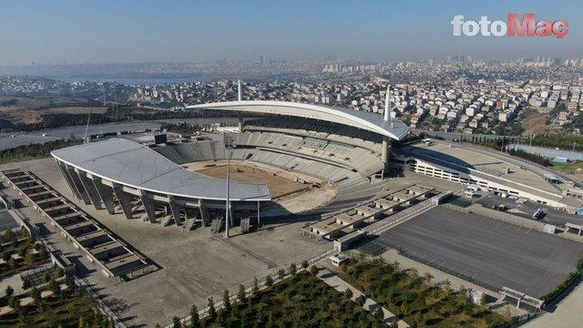 Olimpiyat Stadı'nda Şampiyonlar Ligi hazırlıkları sürüyor