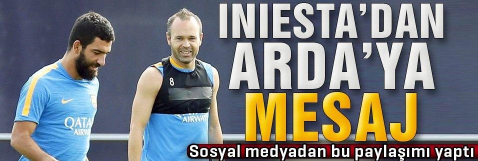 Iniesta'dan Arda Turan'a veda mesajı