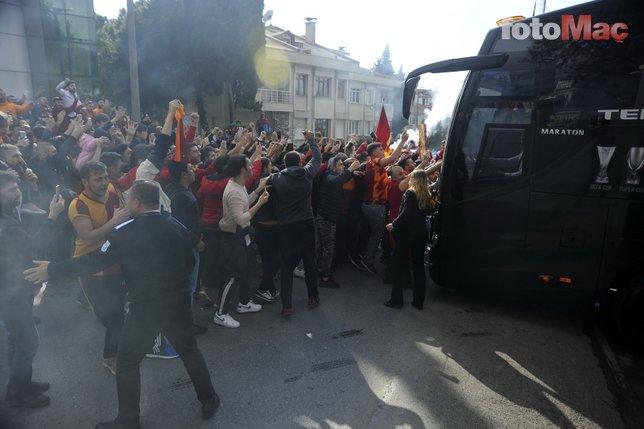 Galatasaray kafilesine coşkulu uğurlama (14 Nisan Pazar)