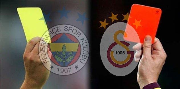 Fenerbahçe - Galatasaray derbisinde kartlar havada uçuşuyor