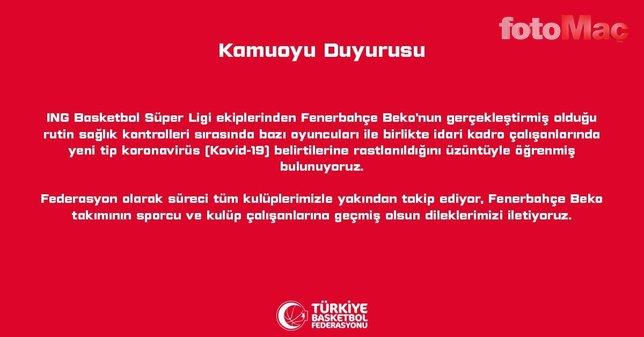 Fenerbahçe'ye koronavirüs açıklaması sonrası destek mesajları!