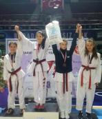 Osmangazili taekwondocuların kupa heyecanı