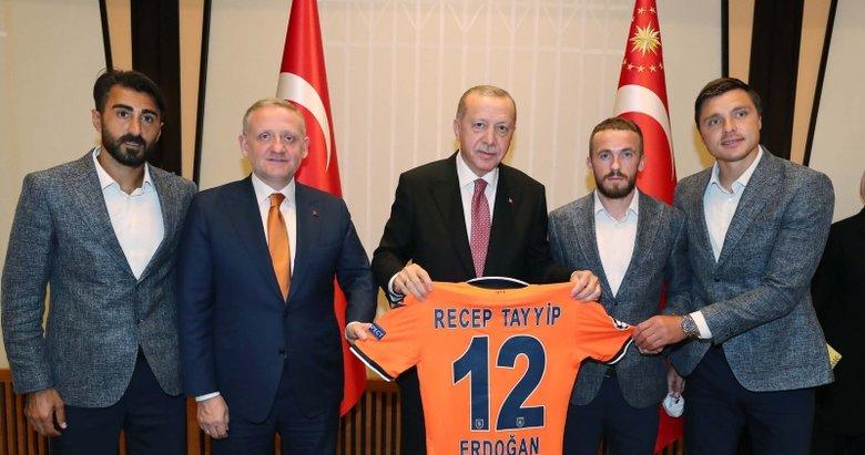 Başkan Recep Tayyip Erdoğan Başakşehir'i kabul etti