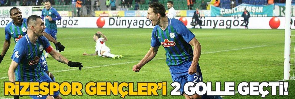 Rizespor Gençler'i 2 golle geçti