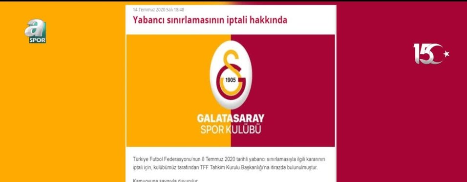 Galatasaray'dan yabancı kuralına itiraz