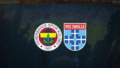 Fenerbahçe hazırlık maçı: Fenerbahçe - PEC Zwolle maçı ne zaman, saat kaçta ve hangi kanalda canlı yayınlanacak? Şifresiz mi?   FB haberleri