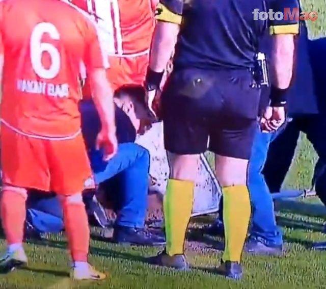 Hatayspor - Adanaspor maçında zemin çöktü sosyal medya yıkıldı