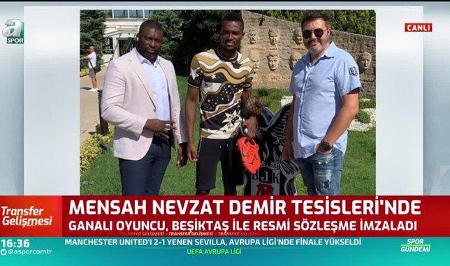 bernard mensah besiktasa resmi imzayi atti 1597672326912 - Ve Bernard Mensah resmen Beşiktaş'ta! İmzayı attı