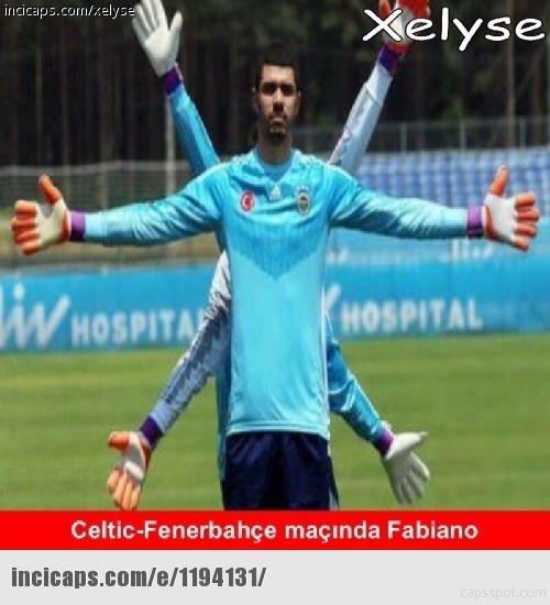 Celtic - F.Bahçe caps'leri