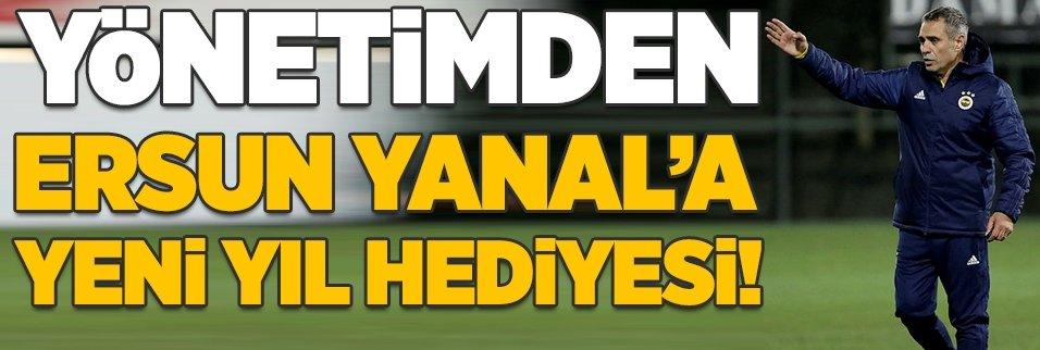 Fenerbahçe'den Ersun Yanal'a yeni yıl hediyesi!