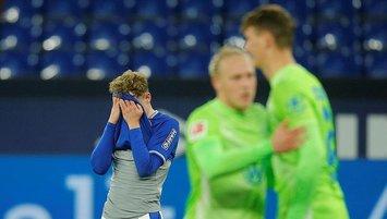 Schalke'nin çöküşü Wolfsburg maçıyla sürdü!