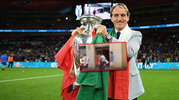 Son dakika spor haberi: EURO 2020 şampiyonu İtalya'nın hocası Roberto Mancini şarküteri kuyruğunda!