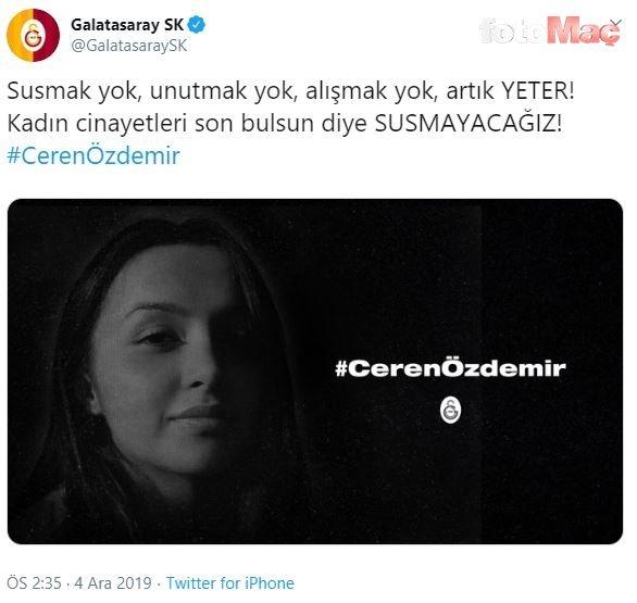 Futbol kulüplerinden Ceren Özdemir paylaşımı!