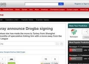 Dış basında Drogba transferi