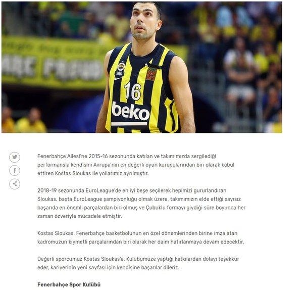 fenerbahcede kostas sloukas ile yollar ayrildi 1595530103821 - Fenerbahçe'de Kostas Sloukas ile yollar ayrıldı!