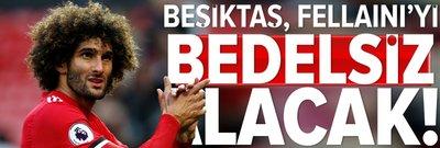 Beşiktaş, Fellaini'yi bedelsiz alacak!