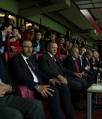 Başkan Erdoğan tribünde
