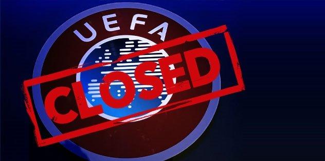 UEFA'dan tüm organizasyonları iptal etti!