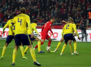 Türkiye İsveç maçından kareler