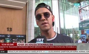 Josef de Souza İstanbul'a geldi