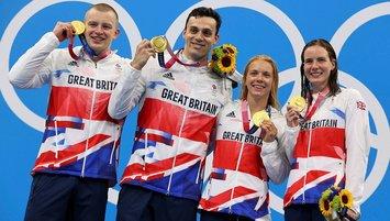 4x100 metre bayrak yarışının galibi Britanya!