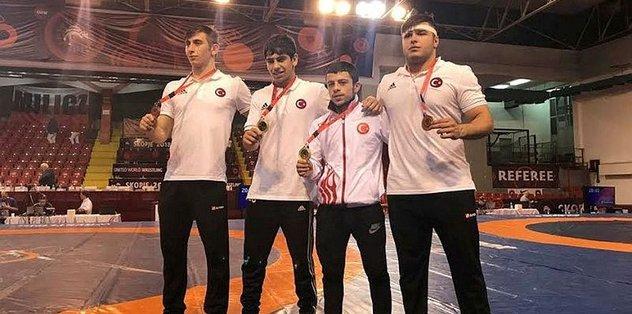 Türkiye, Avrupa Yıldızlar Güreş Şampiyonası'nda serbest stilde 3. oldu