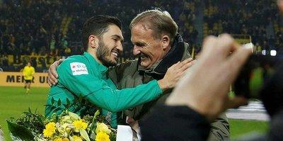 Nuri Şahin Dortmund'da çiçeklerle karşılandı