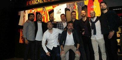 Galatasaray camiasının önemli isimleri Stadyum Müzesi'nde ağırlandı