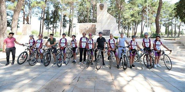 Gaziantep'te bisiklet turu