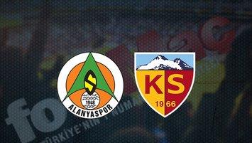 Alanyaspor - Kayserispor maçı saat kaçta? Hangi kanalda?
