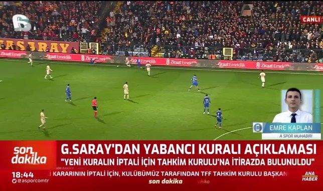1594742143071 - Galatasaray yabancı kuralı için Tahkim'e başvurdu!