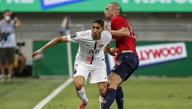 Son dakika spor haberi: Tel Aviv'de oynanan Lille PSG maçında Filistin'e destek olan Achraf Hakimi'ye çirkin protesto!