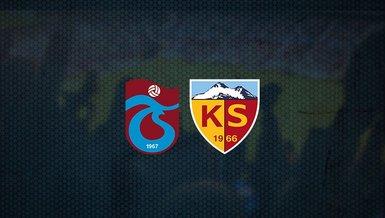 Trabzonspor - Kayserispor maçı ne zaman, saat kaçta ve hangi kanalda canlı yayınlanacak? | Süper Lig