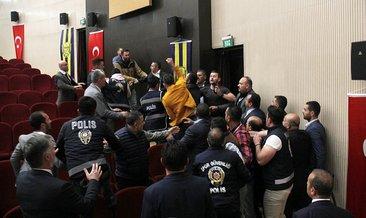 Ankaragücü genel kurulunda arbede çıktı