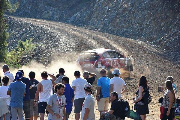 WRC Türkiye Rallisinden çarpıcı kareler