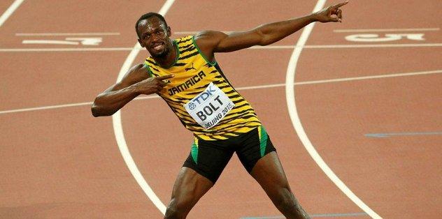 Bolt veda için pistte